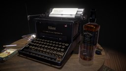 Late Night Poem (Typewriter Noir) 3D Model