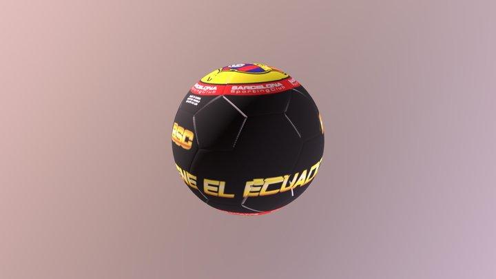BALON BARCELONA negro 3D Model