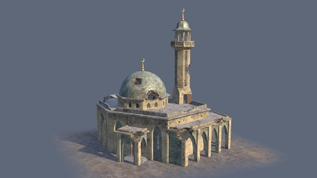 Damaged syrian mosque 3D Model
