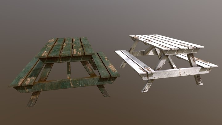 Picnic Tables 3D Model