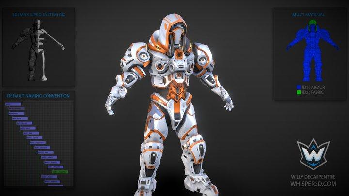 Mech Ghost 3D Model