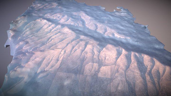 Photogrammetry from Commercial Airliner, Test 1 3D Model