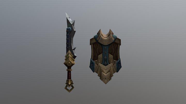 Sword & Shield 3D Model
