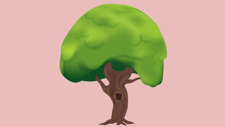 Stylized Toon Tree 3D Model