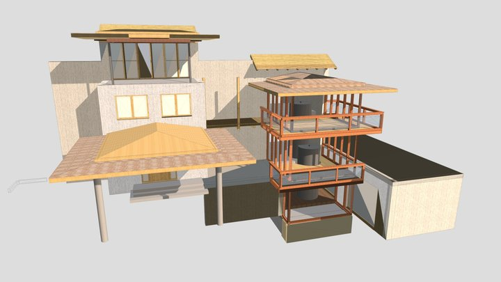 Anbauten Salzburg 3D Model