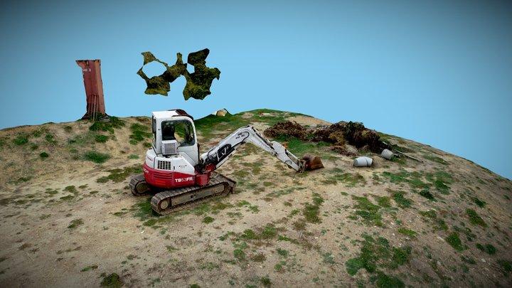 Excavator - Small, HiRes Model 3D Model