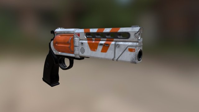 Destiny Vangaurd Hand Cannon 3D Model