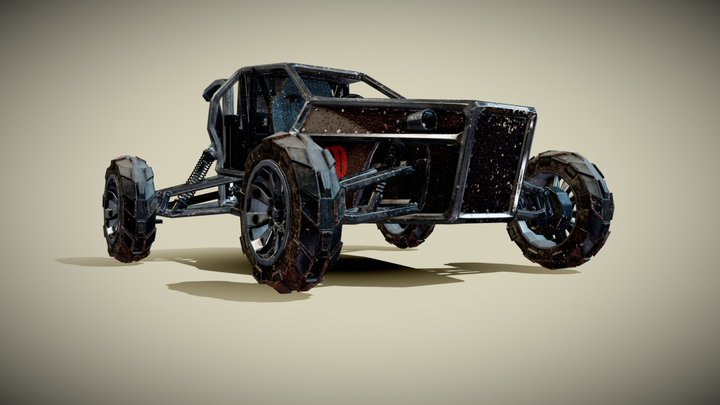 "Dune Buggy ""jump"" 3D Model"