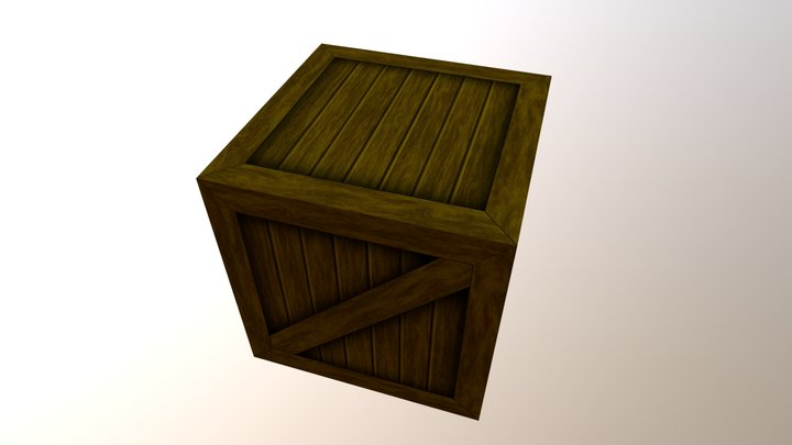Wooden Crate | Low poly - Game Ready 3D Model
