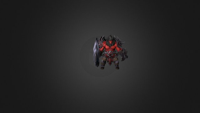 The Furios One Axe set for Dota 2 3D Model