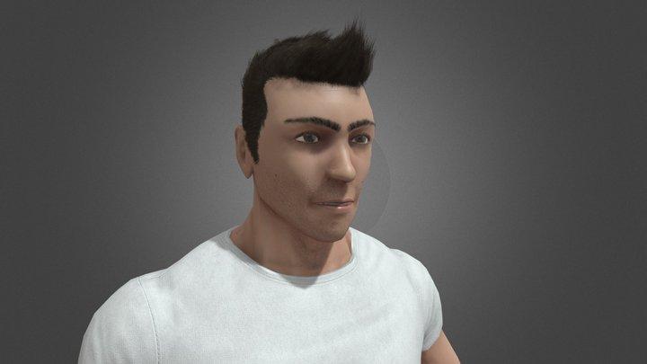 Dan Low Poly 3D Model