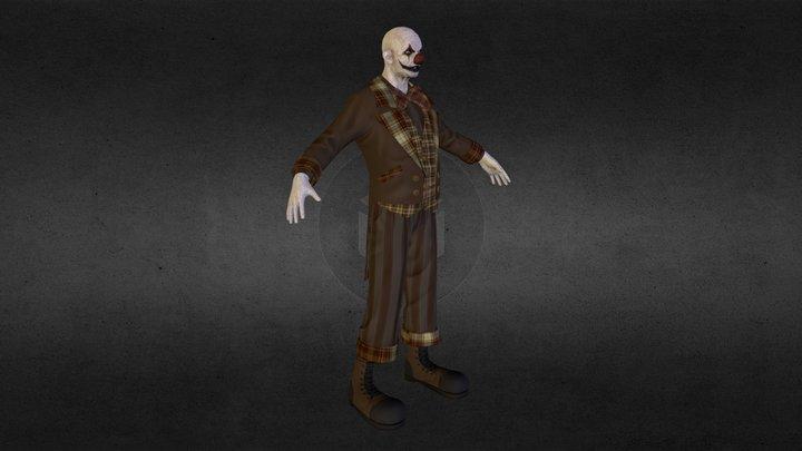 Evil Old Clown 3D Model