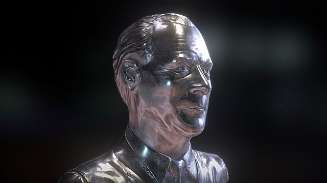 Marshall McLuhan 3D Sculpted Bust 3D Model