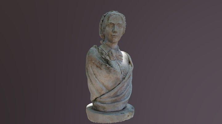 Kossuth Zsuzsanna mellszobra 3D Model