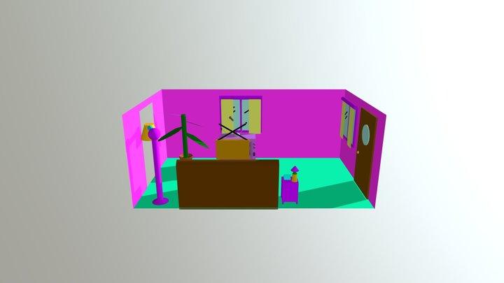 Simpsons Living Room 3D Model