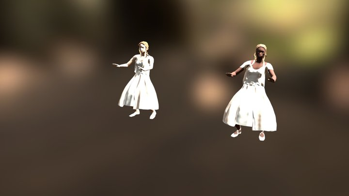 Ballerine in coppia 3D Model
