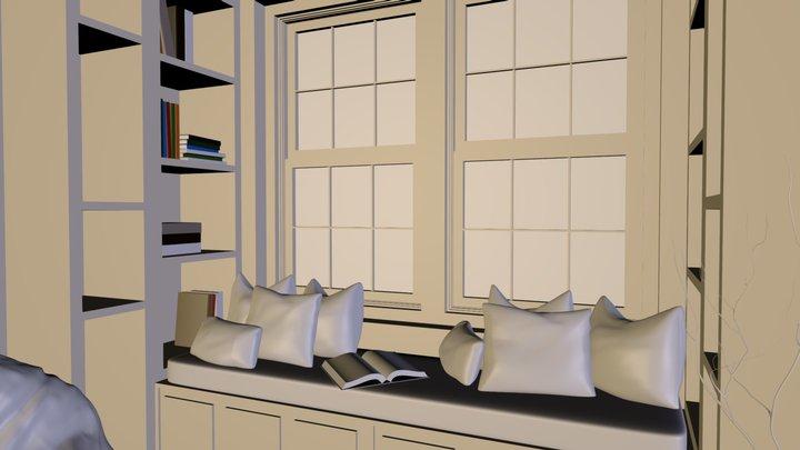 Blender Guru Baking Living Room 3D Model