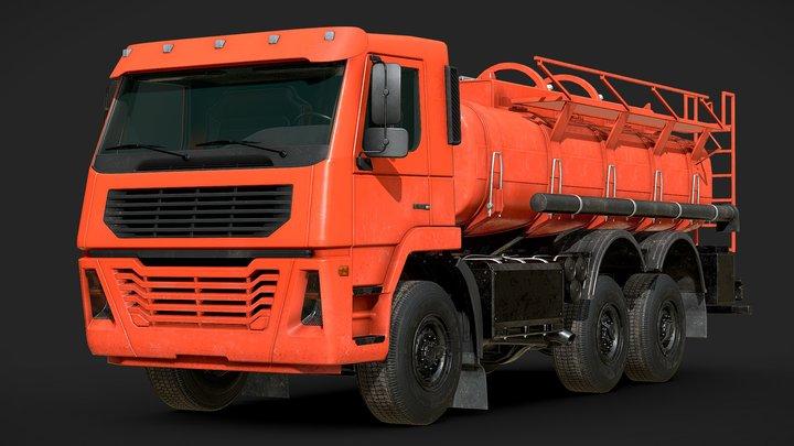 Generic Tanker Cistern Truck 3D Model