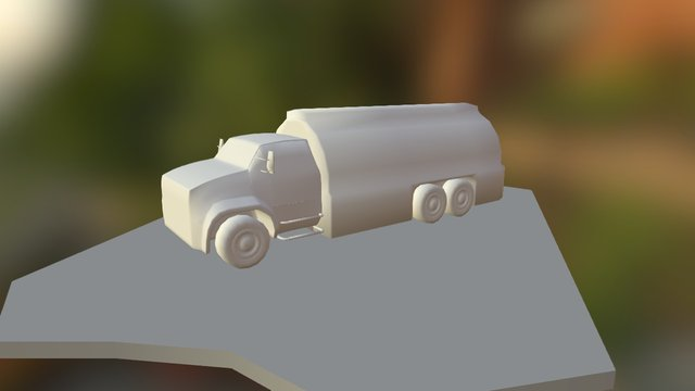 Low Poly Gas Truck 3D Model