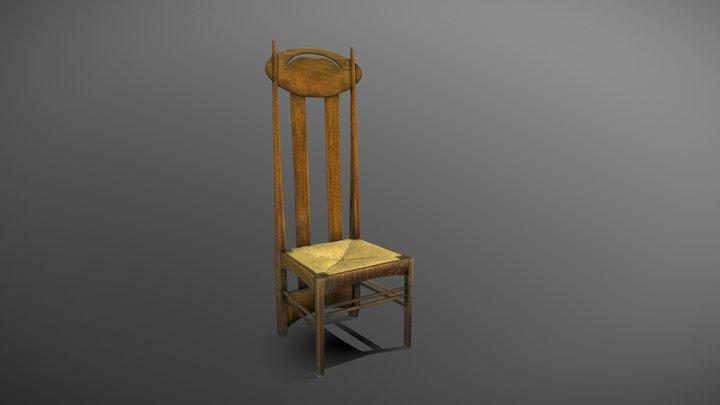 High-back chair for Argyle St - MC/F/014 3D Model