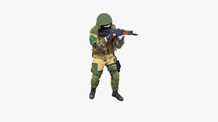 Soldier Aim 3D Model