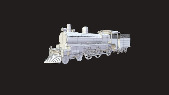 Ten Wheeler 3D Model