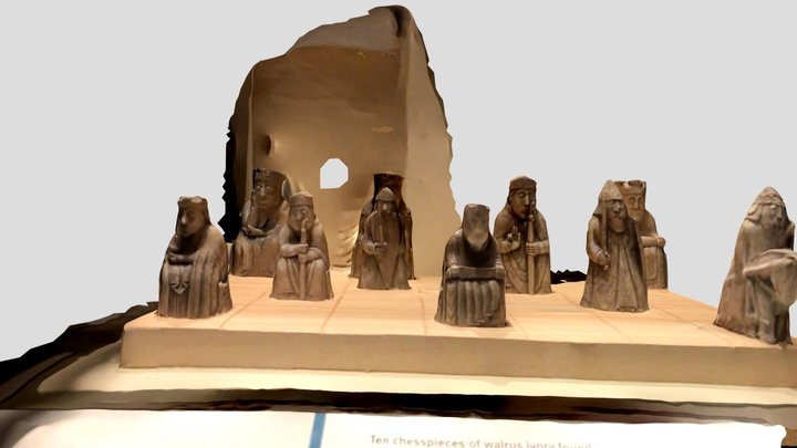 Lewis Chess Pieces 3D Model