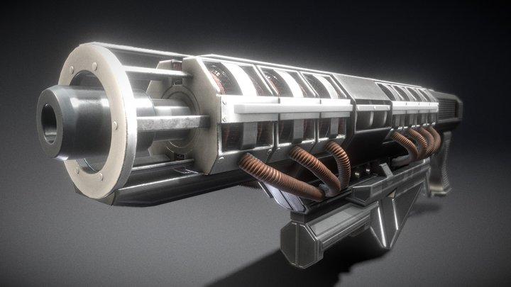 Gauss Rifle 3D Model