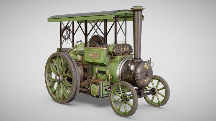 Steam Tractor - Aveling Barford 3D Model