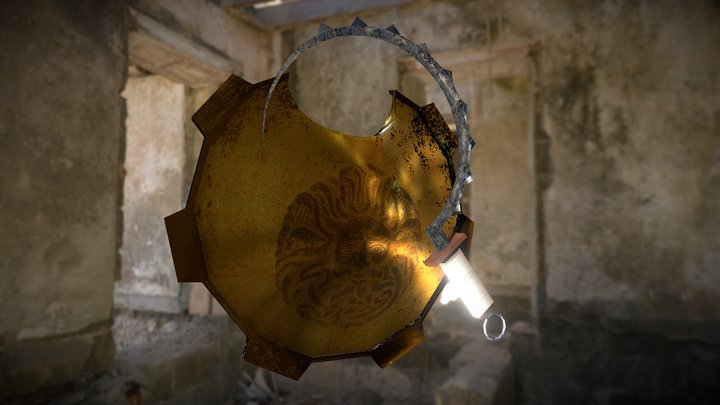 True Shield and Sickle 3D Model