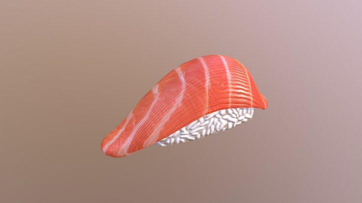 Salmon Sushi - Free Giveaway 3D Model