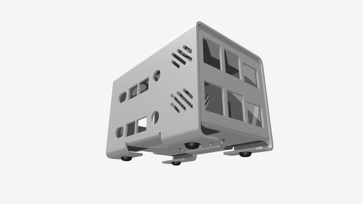Raspberry Pi 4B ケース アルミ製 基板2段型 RPI-4B-2 3D Model