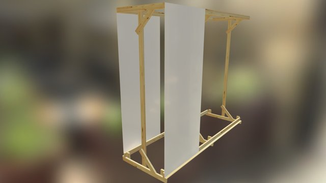 temp easel design 3D Model