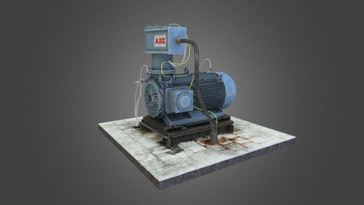 VR-Star Electrical Motor 3D Model