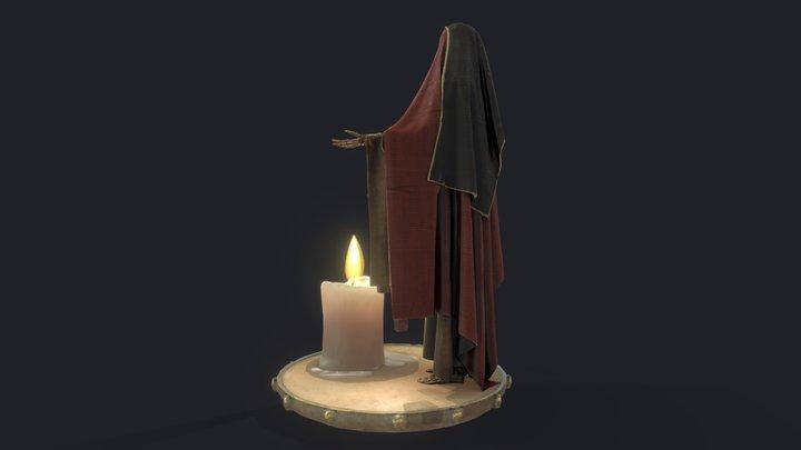 Santa Muerte statue 3D Model