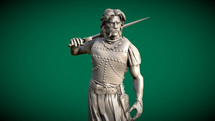 Celtic Chieftain - 3d printable 3D Model