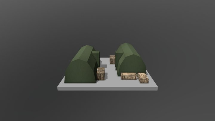 Barracks lvl2 v1 3D Model