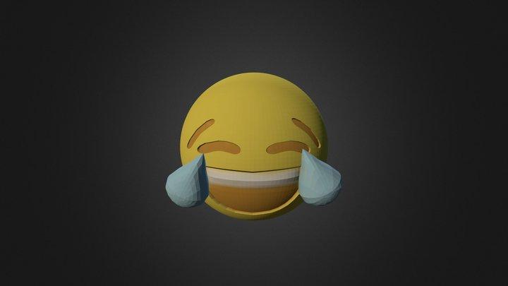 Laugh Til You Cry - 3D Emoji 3D Model
