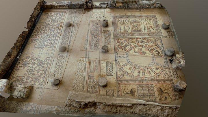 Hamat Tiberias mosaic - פסיפס חמת טבריה 3D Model