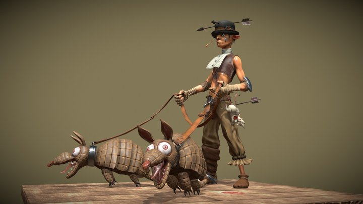 "Billy ""Three arrows"" 3D Model"