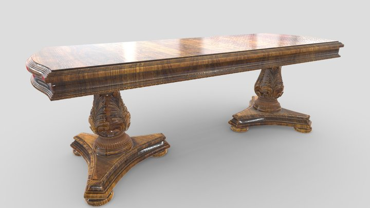 Antique Dining Table 39 3D Model
