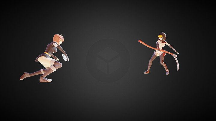 Battle Girls 3D Model