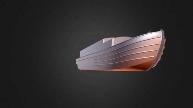 61' narrowboat with classic influences. 3D Model