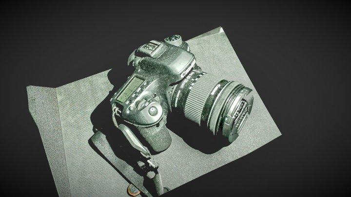 Canon EOS 80D Camera 3D Model