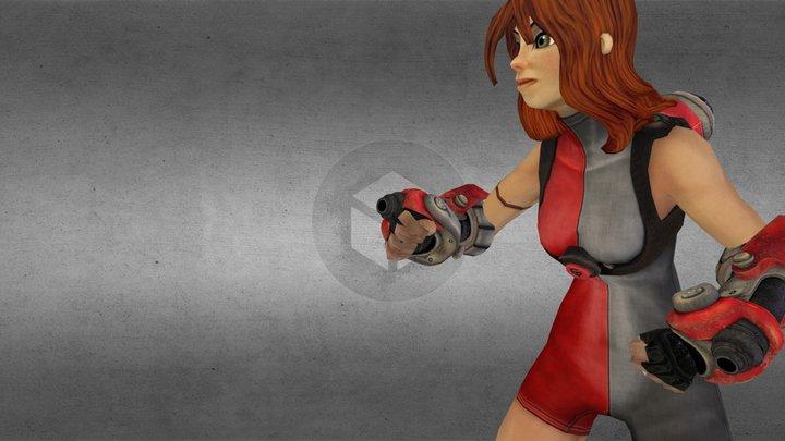 Titan Girl 3D Model