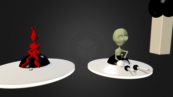 AbbyUFO.blend 3D Model