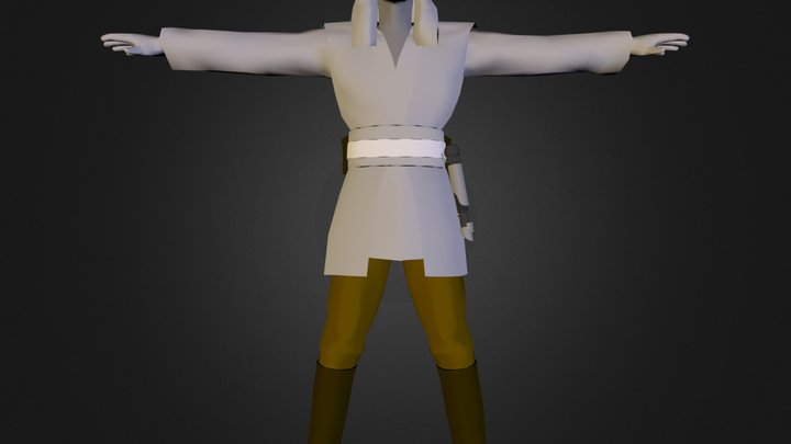 Qui Gon Jinn.3DS 3D Model