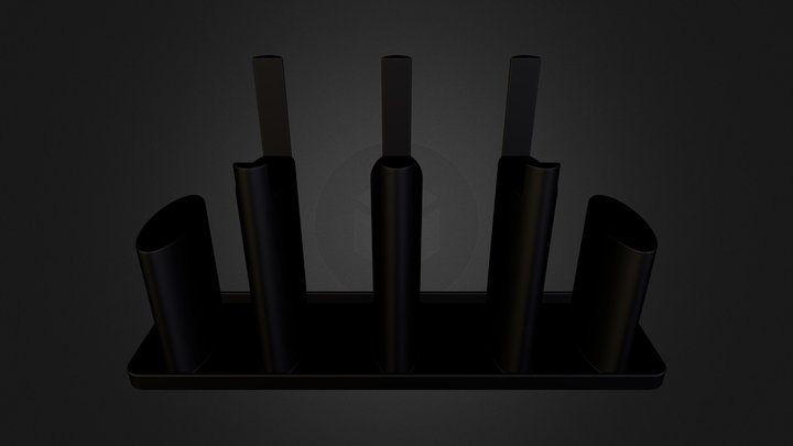 HTC One Stand + Cord Router.stl 3D Model