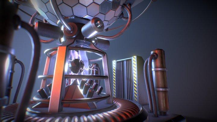 Sci-Fi Reactor Core 3D Model