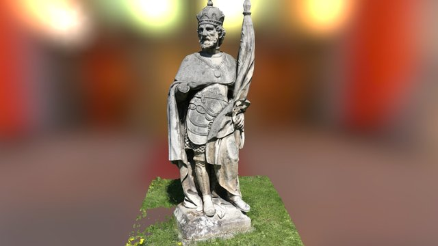 Friedhof Hütteldorf Statue 3D Model